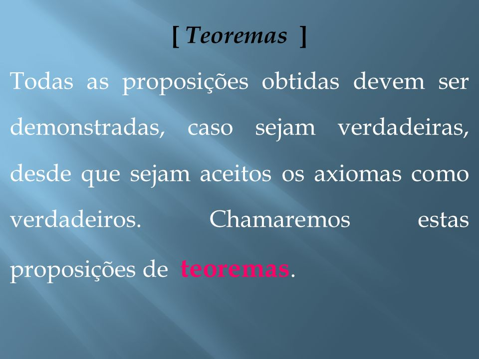 [ Teoremas ]